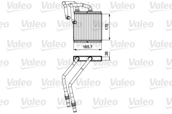 VALEO Kachelradiateur, interieurverwarming |